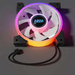 Thumbnail: FAN AZZA Hurricane II Digital RGB 120mm