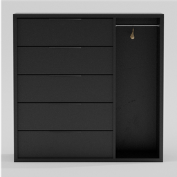 Thumbnail: Chest of drawers with clothes rail