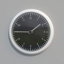 Thumbnail: black and white wall clock