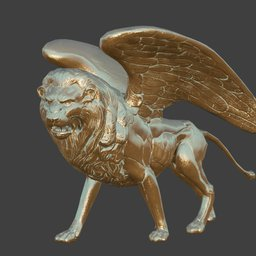 Thumbnail: Winged Lion Statue