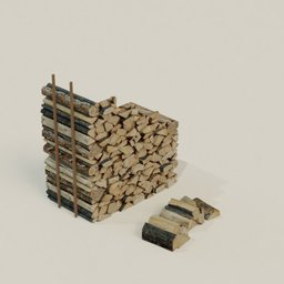 Thumbnail: Firewood Under Stairs