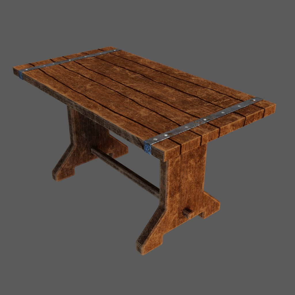 Fabulous Blenderkit Table Model Medieval Wooden Table By Fossariusone Machost Co Dining Chair Design Ideas Machostcouk