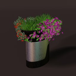 Thumbnail: Mixed plantation &  brushed metal planter