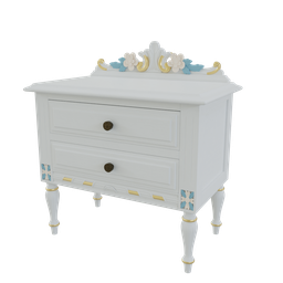 Thumbnail: Ornate nightstand