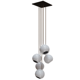 Thumbnail: White ball chandeliers