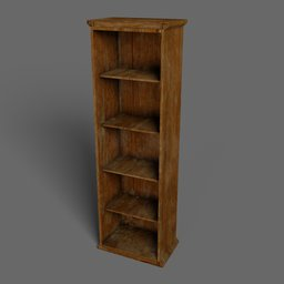 Thumbnail: Old wooden shelving unit