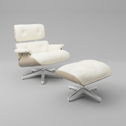 Thumbnail: Eames lounge chair white