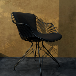 Thumbnail: Wire dining chair