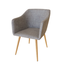 Thumbnail: Beautiful Gray Linen Armchair