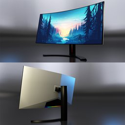 Thumbnail: Curved monitor