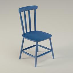 Thumbnail: Blue Wooden Chair