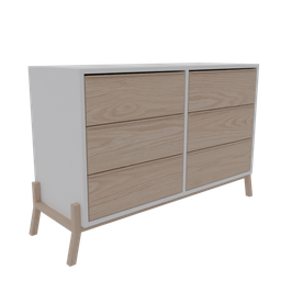 Thumbnail: Chest of drawers 6 Drawers Wood
