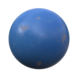 Thumbnail: Wall paint blue chipped