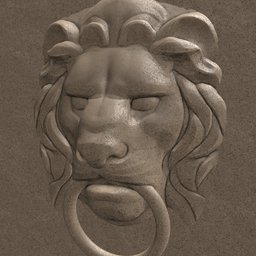 Thumbnail: Lion head relief