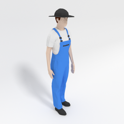 Thumbnail: Low Poly Farmer Man