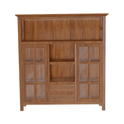 Thumbnail: Wood Cabinet with Glass