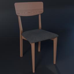 Thumbnail: Jenson Dining Chairs, Dark Stain Oak