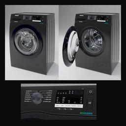 Thumbnail: Samsung ww80r421hfx Black Washer