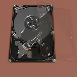 Thumbnail: HDD SAMSUNG 3.5 inch 2TB with glass lid.