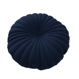 Thumbnail: Blue velvet button cushion B