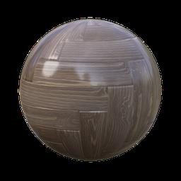 Thumbnail: herringbone parquet oak varnished