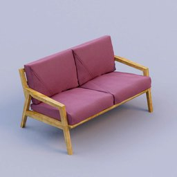 Thumbnail: purple fabric sofa