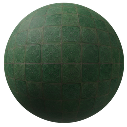 Thumbnail: Green ornamental tiles