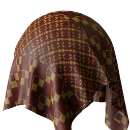 Thumbnail: Glossy fabric patterned