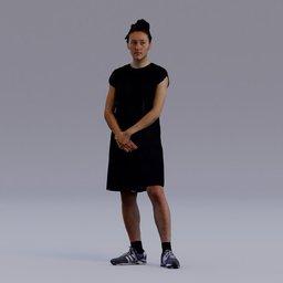 Thumbnail: 3D soul - standing young girl - Rachel