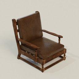 Thumbnail: Antique Wooden Chair 1
