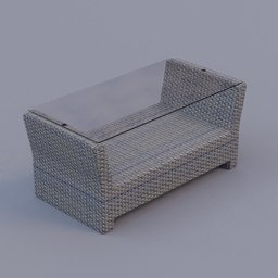 Thumbnail: rattan coffee table