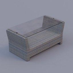 Thumbnail: rattan coffee table