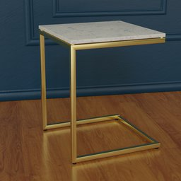 Thumbnail: Smart marble brass c table