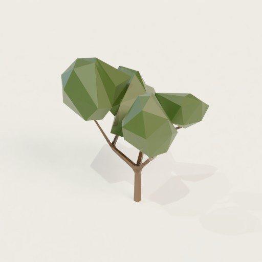 BlenderKit tree model: Low poly tree 1 by Pastean Narcis Dan