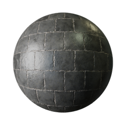 Thumbnail: Black glossy stone blocks