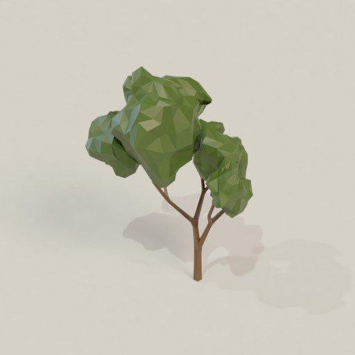BlenderKit tree model: Low poly tree 2 by Pastean Narcis Dan