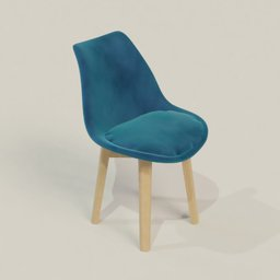 Thumbnail: Scandinavian Velvet Chair