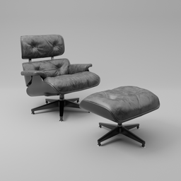 Thumbnail: Eames lounge chair black