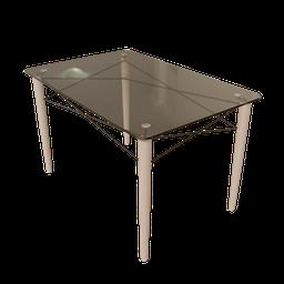 Thumbnail: Rectangular Eames Eiffel Dining Table