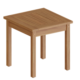 Thumbnail: Square Wood Side Table