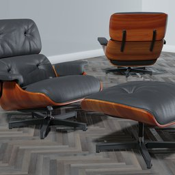 Thumbnail: Eames chair and ottoman