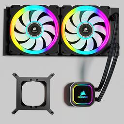 Thumbnail: Corsair AIO H100i RGB Platinum water cooling
