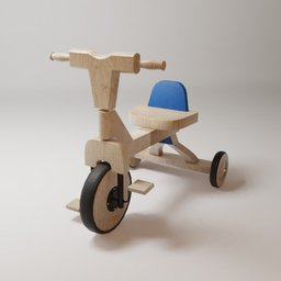 Thumbnail: Wooden tricycle for children