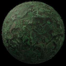 Thumbnail: Green abstract stone